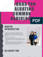 methods for evaluating common radiology