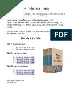 Thơ văn Lý - Trần (938 -1418, Quyển I, II  Và III)