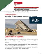 Verborgen Gebrek of Gebreken eBook