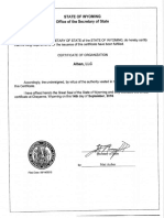 Alban LLC Formation Docs