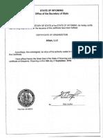 Alban LLC Formation Docs