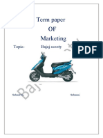 Bajaj Scooty Term Paper Fanil