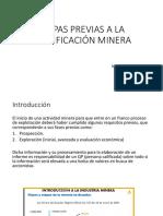 Etapas Previas a La Planificación Minera 2018-2019 (1)