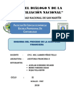 ESQUEMA DEL PROCESO DE LA AUDITORIA FINANCIERA