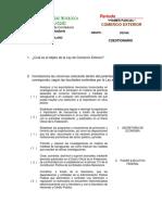 Cuestionario Ley de Comercio Exterior