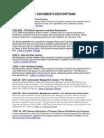 Ccdc Documents Descriptions