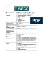 WECC Generating Facility Data, Testing and Model Validation Requirements