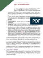 Organization and Management Grade 11 ABM