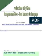 PA - Intro Python - Bases Algorithmiques
