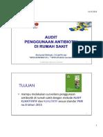 Evaluasi AUDIT Penggunaan Antibiotik
