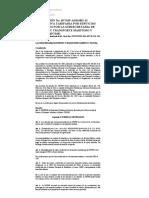 (Normativa Tarifaria Por Servicios Prestados Por La Subsecretaría de Puertos y Transporte Marítimo y Fluvial) -SPTMF