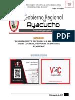 Informe de Levantamiento Topografico Lucanas Puqui Ayacucho