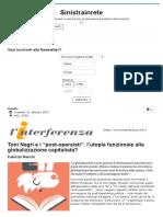 """Fabrizio Marchi_ Toni Negri e i """"Post-operaisti""""_ l'Utopia Funzionale Alla Globalizzazione Capitalista"""