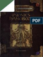 D&D 3.0 -Manual de Psionicos.pdf