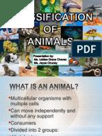 CLASSIFICATION OF ANIMALS BIO2).pptx