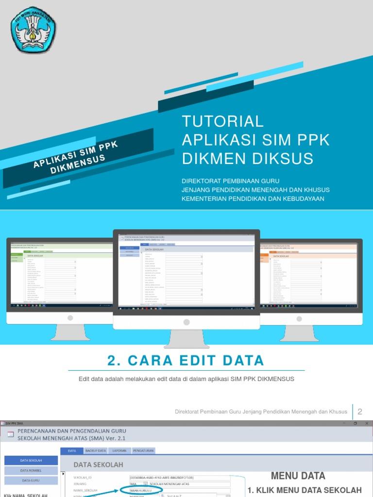 Tutorial Aplikasi Sim Ppk Dikmensus 2