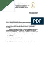Solicito Certificado de Estudios Segundarios