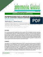 Uso de La Solucion Salina en Cateteres Perifericos