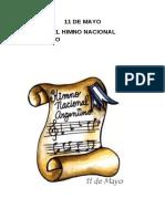11 de Mayo Dia Del Himno Nacional Argentino