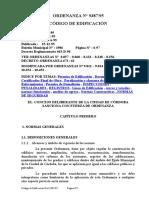 Codigo de Edificacion - Argentina Cordoba