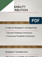 Probability Distribution Ppt