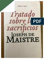 Tratado Sobre Los Sacrificios - Joseph de Maistre