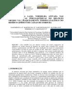 Influencia de Lama Vermelha Ativada No Craqueamento Termocatalíco de Caixas de Gordura