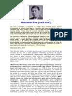 A Historia de Watchman Nee