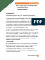 Insidencia Del Tipo de Cambio Sobre Las Exportaciones Texitileras en Bolivia