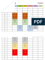 Spring 2019 Semester Schedule