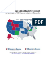 National Poll On Initiative and Referendum Rights - Americans Want a Direct Say in Government