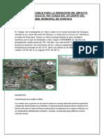 Alternativa Viable Para La Disinucion Del Impacto Ambiental Hacia El Rio Cunas Del Afluente Del Camal Municipal de Chupaca