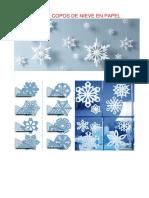 Moldes Para Copos de Nieve en Papel