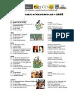 Calendario Cívico 18