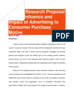 Sample Research Proposal on the Influence and Impact of Advertising to Consumer Purchase Motive