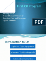 First C# Program
