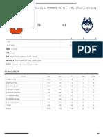 SU basketball box score