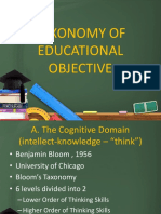 Taxonomy of Educational Objective