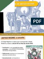 A Sociedade de Antigo Regime 11º Ano Módulo 4