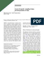 Guerra-Castro Et Al. 2011. Biotelemetry of Crustacean Decapods Sampling Design, Statistical Analysis and Interpretation of Data