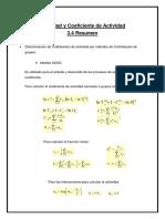 3.4 Actividad y Coeficiente de Actvidad