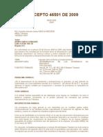 Concepto 46501 DE 2009