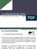 El Proyecto de Tesis (1)