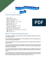 Ejerciciio sobre Ecuaciones de Primer  y Segundo Grado.docx
