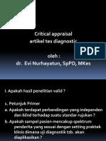 Contoh Critical Appraisal Tes Diagnostik Pptx