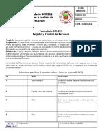 SCI 211 Registo y Control Recursos