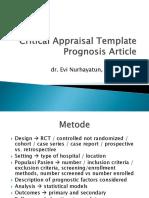 Critical Appraisal Prognose