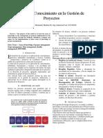 Áreas Del Conocimiento en La Gestión de Proyectos Marcos Hernández