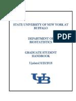 Graduate Handbook Biostatistics