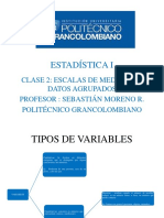 Estadistica Clase 2 - Politecnico Grancolombiano Bogotá 2018